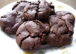Eggless Double Chocolate Chunk Cookies